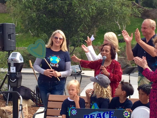 Kids for Peace at Kindness Meter Dedication